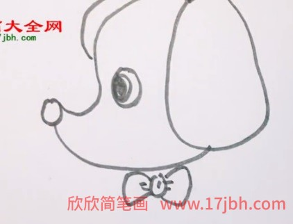 怎样画小狗简笔画