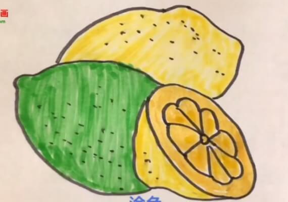 儿童柠檬简笔画图片大全
