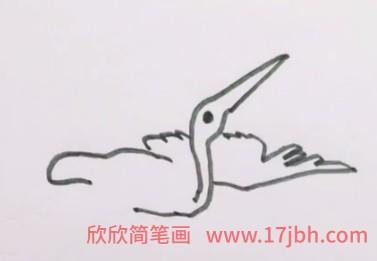白鹭的简笔画