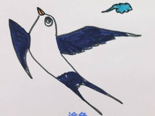 儿童燕子简笔画步骤