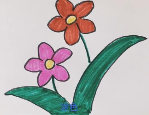 儿童花朵简笔画大全