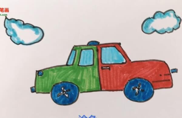 小汽车图片简笔画