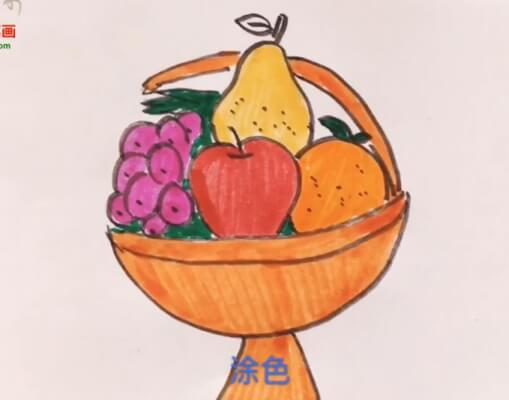 水果盘简笔画教程