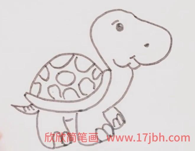 乌龟颜色简笔画