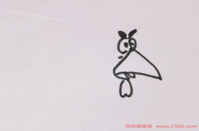 卡通公鸡图片简笔画