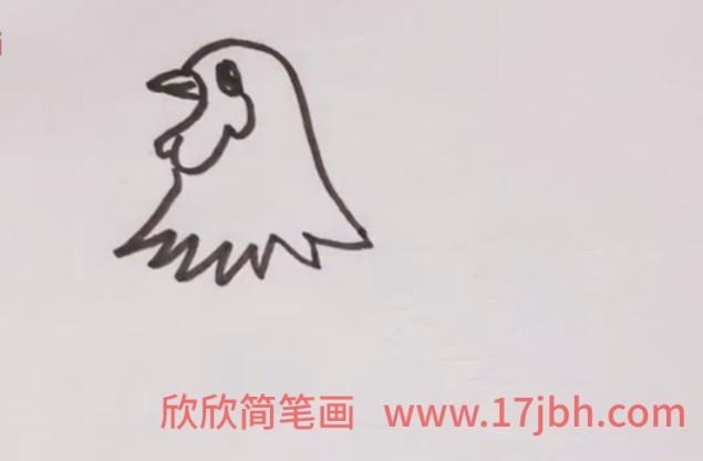 儿童简笔画公鸡