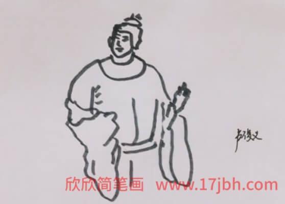 儿童水浒人物简笔画