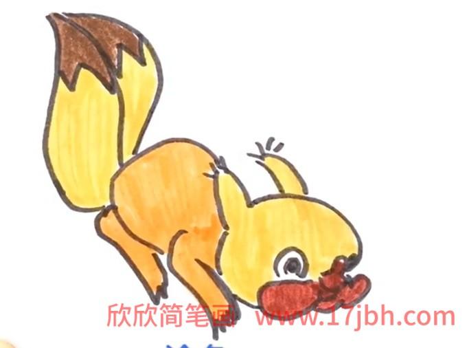 松鼠的简笔画怎么画