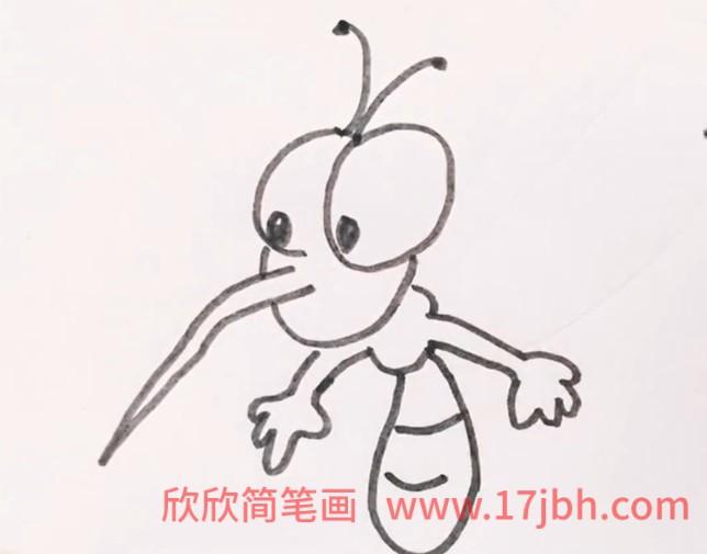 蚊子怎么画简笔画图片