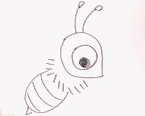 蜜蜂简笔画彩色