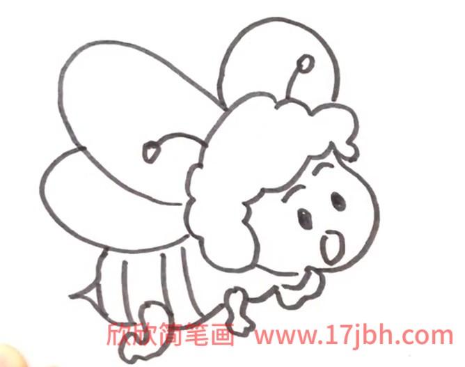 蜜蜂画法简笔画