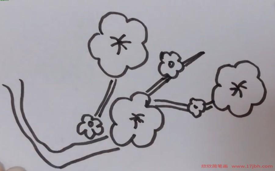 怎样画梅花简笔画图片