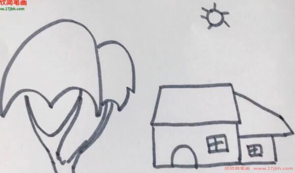 幼儿风景简笔画