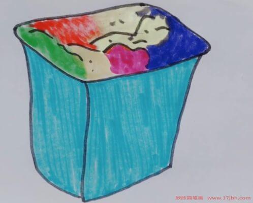 画垃圾桶的图片简笔画