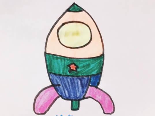 宇宙飞船的简笔画