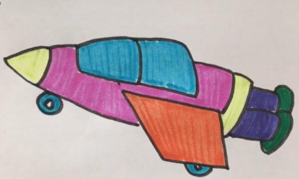 宇宙飞船怎么画简笔画