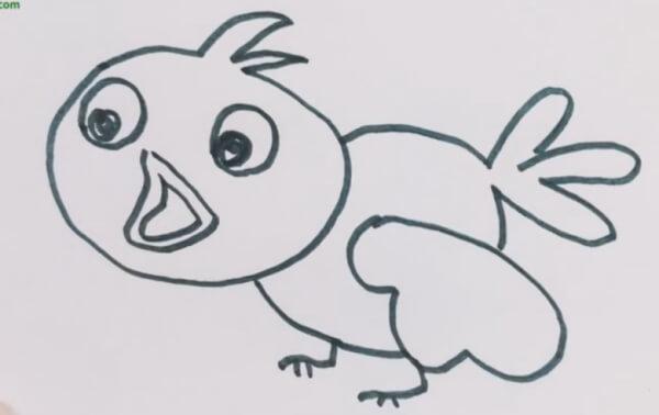 布谷鸟简笔画图片