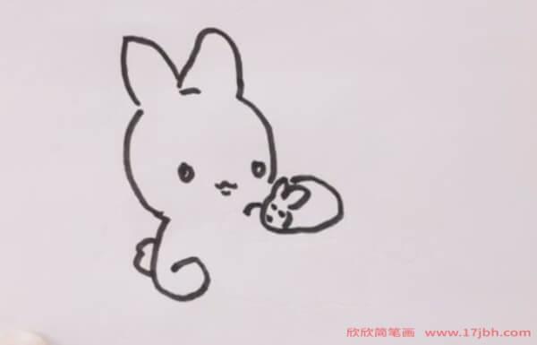 中秋节玉兔简笔画