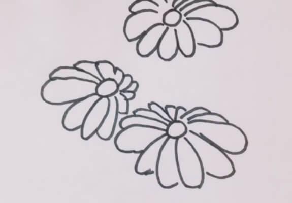 幼儿简笔画菊花