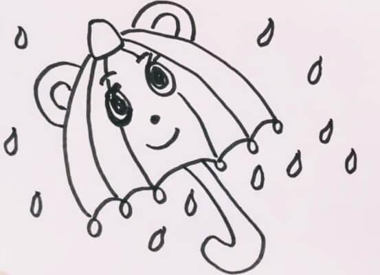 简笔画雨伞